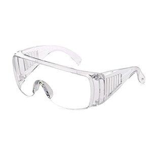 UKKD Lunettes de protection de la sécurité, anti-gouttelettes anti-poussière Protection des yeux anti-poussière Verres et lunettes de protection, parfaite pour la construction, le travail de laboratoi