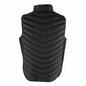 Weikeya Gilet Chauffant Chaud, système de Chauffage 75 x 55cm Vêtements de Chauffage Coton Fait pour Les vêtements (Noir)