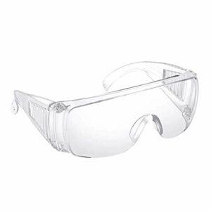 YH & GS Lunettes de sécurité pour le travail – Lunettes de protection anti-buée, protection des yeux avec vision claire, résistant aux rayures et aux UV (1 pièce)