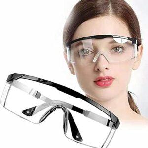ZDFDC Surlunettes de Protection | Lunettes de protection Lunettes de sécurité,Lunettes de sécurité transparentes,Lunettes de protection sur lunettes,Lunettes de sécurité anti-buée