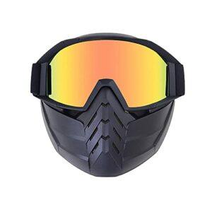 Zfeng Sports de plein air Pare-brise détachable Protection Verres d'équitation respirant à la moto hors route Half casque portable lunettes anti-UV masque anti-UV Doggles anti-ondes-UNE