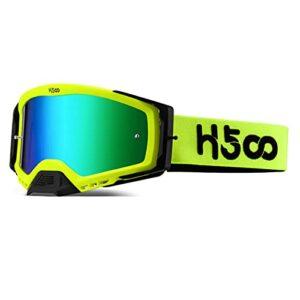 ZHOUSAN Lunettes de protection pour motocross et VTT, pour activités en plein air, alpinisme et ski, verres verts