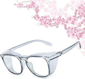 Anti Fog anti pollen Anti Fog Safety Goggles Photochromic Safety Goggles Anti Saliva Anti Pollen Safety Glasses With Side Shield Intelligent Color Changing Glasses UV Protection PC for women-Green