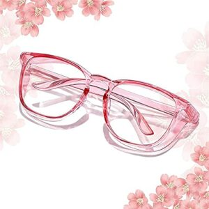 Anti Fog anti pollen Anti Fog Safety Goggles Photochromic Safety Goggles Light Anti Saliva Anti Pollen Safety Glasses With Side Shield Anti-blue light blocking UV Protection PC for women