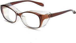 Anti Fog pollen Blue Ray Safety Glasses Oversized Anti-Fog Safety Glasses for Women Men Big Frame Goggles Blue Light Blocking Eyeglasses UV400 Eyewear Anti-GL2