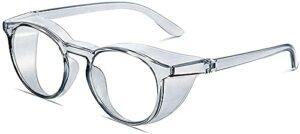 Anti Fog Safety Goggles Safety Glasses Lightweight Blue Light Blocking Glasses Anti Pollen UV Protection Safety Goggles Anti Saliva Anti Fog Eyewear for women-Gray