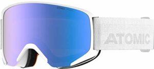 Atomic, Masque de ski All Mountain, Mixte, Medium Fit, Lentille photochrome, Savor Photo, Blanc/Bleu photochrome, AN5105996