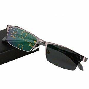 DDZHE Progressives Multifocus Lunettes de Lecture Anti Lumiere Bleue Verre de Presbyte Transition lunettes photochromiques pour hommes/femmes