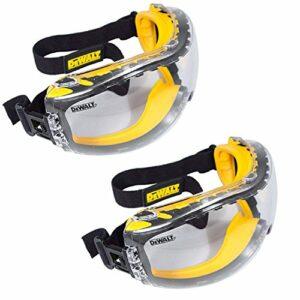 DEWALT DPG82-11 Masque de protection anti-cernes transparent double moule anti-buée (lot de 2)