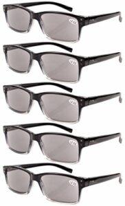 eyekepper Lunettes non grossissantes pour hommes-5 Pack de lunettes à verres teintés Gris pour hommes Lunettes pour femmes