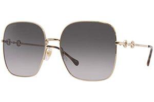Gucci Lunettes de Soleil GG0879S Gold/Grey Shaded 61/18/140 femme