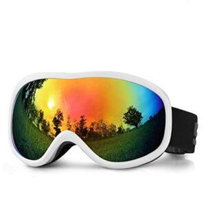 LXQLLJJD Lunettes De Ski, Anti-buée Double Couche, Pare-Brise 100% Anti-ultraviolets, Adaptées Aux Placages Hommes Et Femmes, Motoneiges, Cyclisme, Alpinisme Et Sports De Plein Air,B
