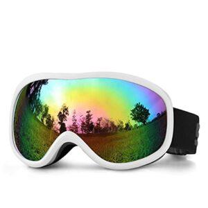 LXQLLJJD Lunettes De Ski, Anti-buée Double Couche, Pare-Brise 100% Anti-ultraviolets, Adaptées Aux Placages Hommes Et Femmes, Motoneiges, Cyclisme, Alpinisme Et Sports De Plein Air,C