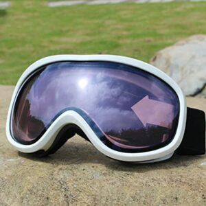 LXQLLJJD Lunettes De Ski, Anti-buée Double Couche, Pare-Brise 100% Anti-ultraviolets, Adaptées Aux Placages Hommes Et Femmes, Motoneiges, Cyclisme, Alpinisme Et Sports De Plein Air,E