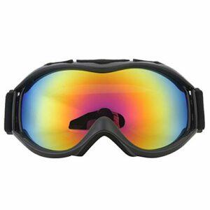 N»C Ski De Neige Noire Sports De Plein Air Sports Anti-Brouillard Lunettes Double Couches Big Vision Verres Anti-UV