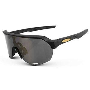 NZAUA Lunettes de Soleil polarisées pour Hommes, Lunettes de Cyclisme encadrées pour Femmes Sports Lunettes de Soleil UV380 Vélo Protecteur Vélo Sunglasses D