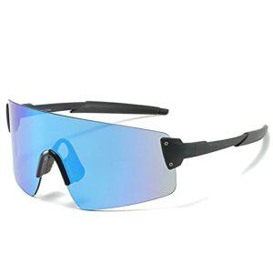 NZAUA Lunettes de Soleil Sports Sunglasses polarisées UV380 Vélo Lunettes de Soleil Vélo Hommes et Femmes Cyclisme Conduite Pêche Golf