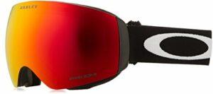 Oakley Flight Deck XM Masque de Ski Mixte Adulte, Matte Black avec Logo Blanc et Bande Noire, Unique