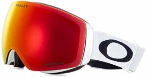 Oakley Flight Deck XM Masque de Ski Mixte Adulte, Matte White/Prizm Torch Iridium, Taille Unique