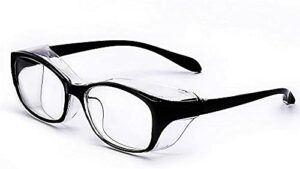 Safety Glasses, Protective Goggles for Women and Men, Protective Eyewear with Anti-fog Anti-scratch Anti-pollen Anti-blue light blocking Eye Protection Features-Black