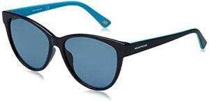 Skechers SE6125 Lunettes de Soleil, Noir et Bleu, Taille Unique Femme
