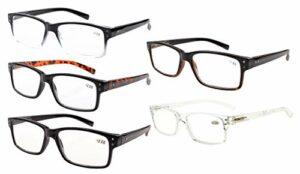 eyekepper Lunettes non grossissantes pour hommes-5 Pack de lunettes pour hommes Lunettes pour femmes