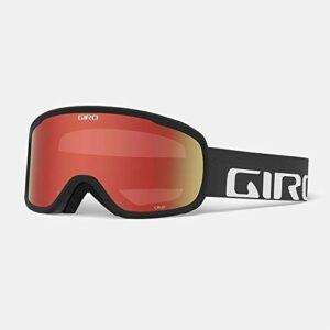 Giro Cruz 2021 Lunettes de ski pour adulte avec sangle noire et verres ambrés