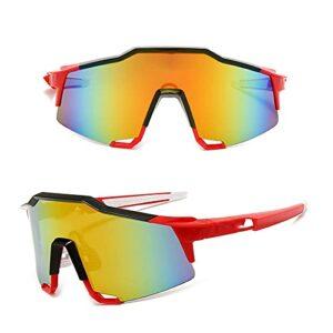 KAITUO Verres de Cyclisme photochromique Vélo Vélo Verres Sports Lunettes de Soleil pour Hommes MTB Lunettes de Protection des Lunettes de Cyclisme Routier (Color : NO 01, Eyewear Size : One Size)