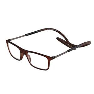 Les lunettes de lecture magnétiques bloquant la lumière bleue sont réglables, accrochées autour du cou, adaptées à la lecture par les hommes et les femmes (Color : 5, Size : +1.0)