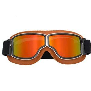 Lunettes De Ski Masques Snowboard,Motoneige Moto Lunettes Ski Goggles Protection Lunettes Lens Anti-poussière, UV Protection,Anti-Buée, Coupe-Vent pour (Style 16,Taille Unique)