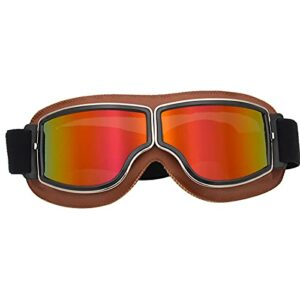 Lunettes De Ski Masques Snowboard,Motoneige Moto Lunettes Ski Goggles Protection Lunettes Lens Anti-poussière, UV Protection,Anti-Buée, Coupe-Vent pour (Style 18,Taille Unique)