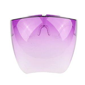 NNMB Bouclier des Yeux Visière Envelopper Bouclier Grand Miroir Sun Lunettes Demi-Visage Protecteur de Protection Visage Masque Goggles Cuisine Outils de Cuisine (Color : 02)