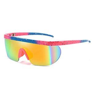 NZAUA Lunettes de Cyclisme polarisées pour Hommes Femmes, UV400 Protection Sports Sports Sunglasses Baseball Vélo Conduite Moto Moto MTB E