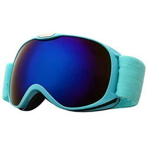PVDR Enfants Hiver Coupe-Vent Ski Lunettes Garçons Filles UV400 Anti-buée Ski Lunettes Enfants Sphérique Large Vision Snowboard Lunettes (Color : A)