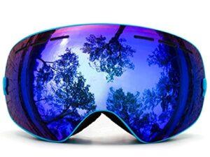 PVDR Lunettes De Ski, Lunettes De Sports De Neige d'hiver avec Lunettes Interchangeables pour Hommes, Femmes Et Jeunes (Color : C)