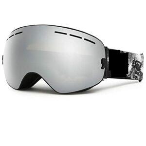 PVDR Lunettes De Ski Snowboard Double Couches UV400 Anti-buée Grand Masque De Ski Lunettes De Ski (Color : C)