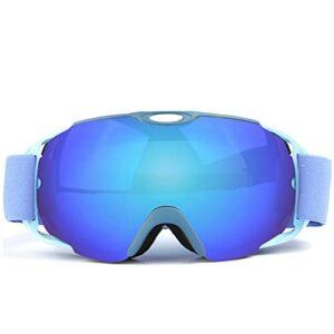 QIN Lunettes De Ski, Lunettes De Snowboard, Système De Verrouillage Magnétique Et Clip, Écran Interchangeable