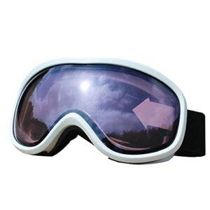 QIN Lunettes De Ski sur Lunettes – Lunettes De Neige/Snowboard pour Hommes, Femmes Et Jeunes – Lunettes De Motoneige Anti-buée UV400