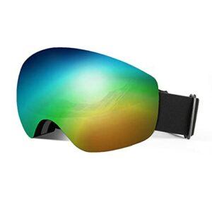 QIN Masques De Ski REVO – Masques De Neige sans Monture, Écrans Interchangeables 100% Protection UV400 pour Hommes Et Femmes
