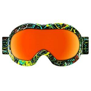 QIN Ski Goggles OTG – sur-Lunettes De Ski/Snowboard pour Hommes, Femmes Et Jeunes – 100% Protection UV