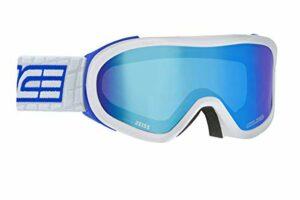 Salice 905DAFO, Masque de ski unisexe pour adulte, blanc-bleu, unique