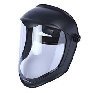 Sharplace de Casque de Protection Faciale avec Visière Transparente Housse de Protection Anti-buée Meulage de Sécurité, Protège Contre Les Chutes Ou Les – Anti-Brouillard Masque