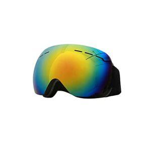 TCross Lunettes de Ski Hommes Femmes Hiver Anti-Brouillard Ski Ski Verres avec Masque Gratuit Double Couches de Snowboard Lunettes de Ski (Couleur : D)