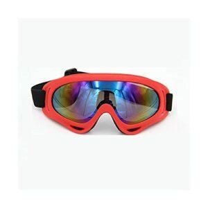 TCross Lunettes de Ski Hommes Femmes Winter Ski Motoneige Ski Verres Sports de Plein air Patinage Sports à motoneige (Couleur : Rouge)
