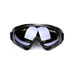 TCross Lunettes de Ski Masque de Snowboard en Plein air Hiver Moton MotoChoCross Lunettes de Soleil Sports Sports Sports Eductionnels Verres d'équitation (Couleur : Le Noir)