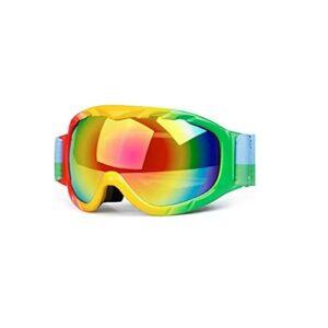 TCross Lunettes de Ski Sports d'hiver Verres de Ski Duples Lens Anti-Brouillard Snowboard Motocross Goggles Ski Lunettes de Ski (Couleur : A)
