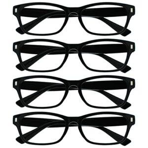 The Reading Glasses Company La Société Lunettes De Lecture Noir Lecteurs Valeur Pack 4 Hommes Femmes RRRR77-1 +3,50