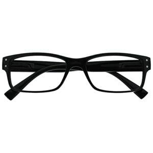The Reading Glasses Lunettes de Lecture Hommes Noir Grand Designer Style Lecteurs Charnières Ressort R11-1 +1,00