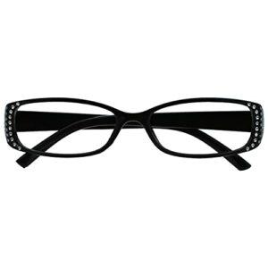 The Reading Glasses Noir Style Diamonte Courte Vue Lunettes Distance Pour Myopie Designer Style Femmes Dames M93-1 -2,50