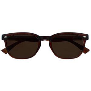 UV Reader Brun Soleil Lunettes de Lecture UV400 Designer Style Hommes/Femmes UVSR015 +2,00